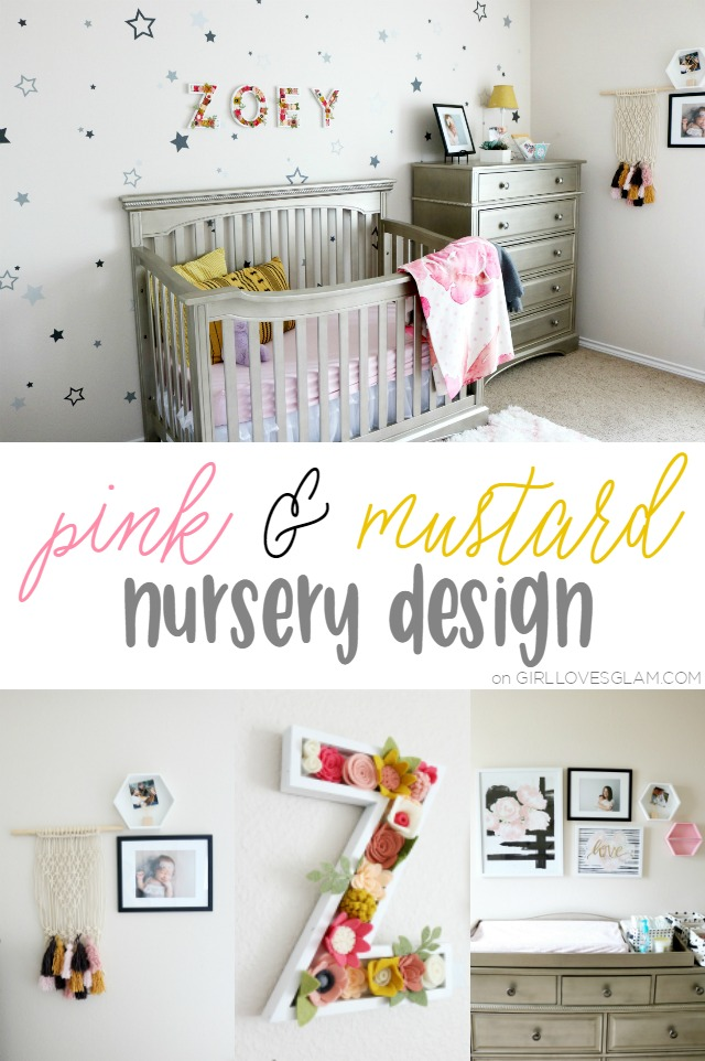 Pink-and-Mustard-Nursery-Design